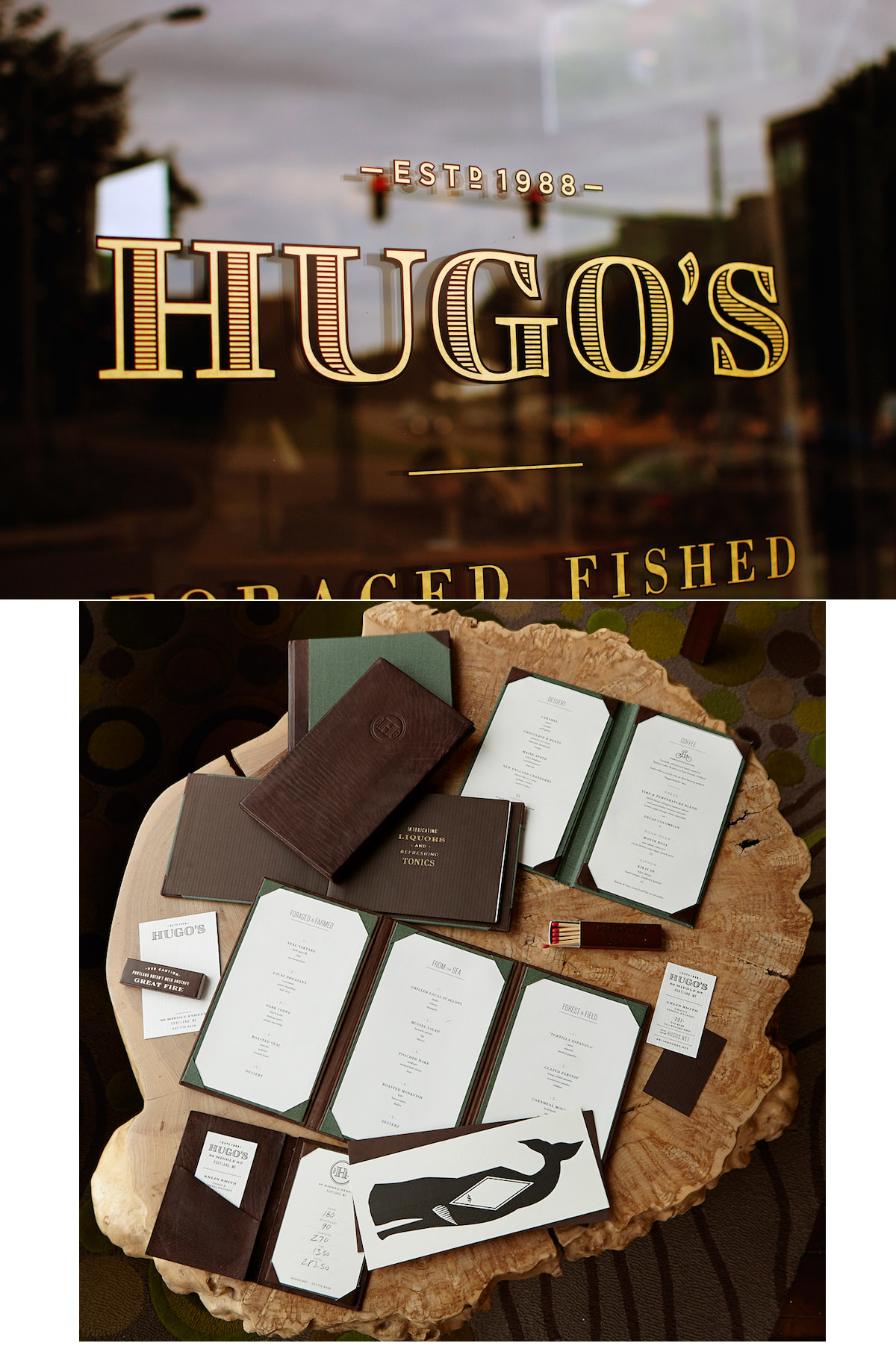 Hugo's Brand and Collateral Design by Might & Main